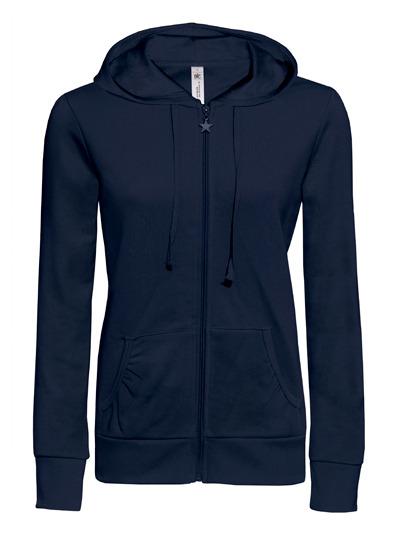 Basic Zip-Hoodie Woman - Navy