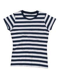 Premium T-Shirt Stripes Woman - Navy / White