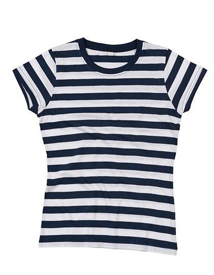 Premium T-Shirt Stripes Woman - Navy / White
