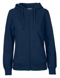 Zip-Hoodie Organic 100% Bio-Baumwolle Woman - Navy