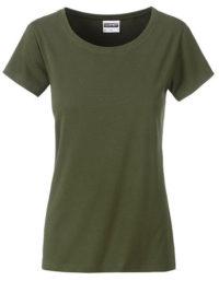 Basic T Organic 100% Bio-Baumwolle Woman - Olive