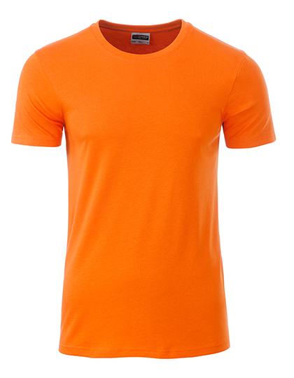 Basic T Organic 100% Bio-Baumwolle Man - Orange