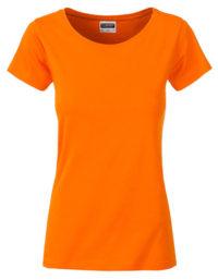 Basic T Organic 100% Bio-Baumwolle Woman - Orange