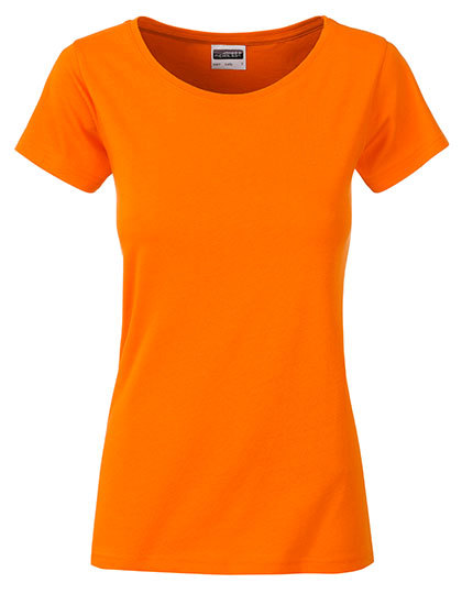 Basic T Organic 100% Bio-Baumwolle Woman - Orange