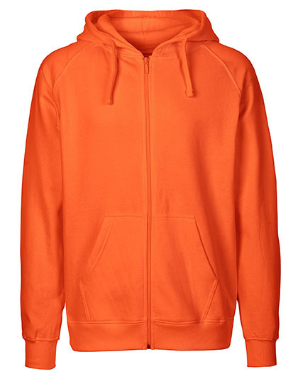 Zip-Hoodie Organic 100% Bio-Baumwolle Man - Orange
