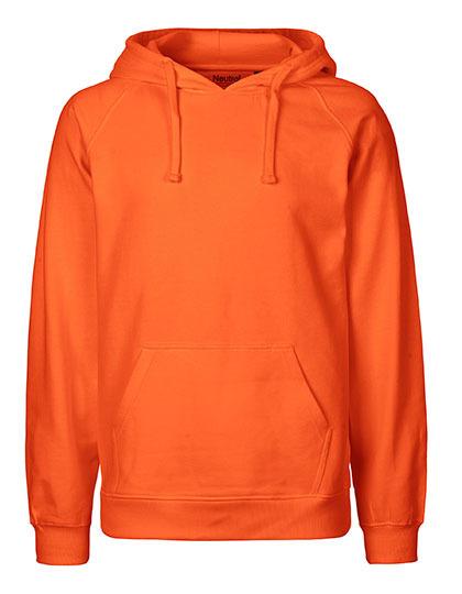Hoodie Organic 100% Bio-Baumwolle Man - Orange