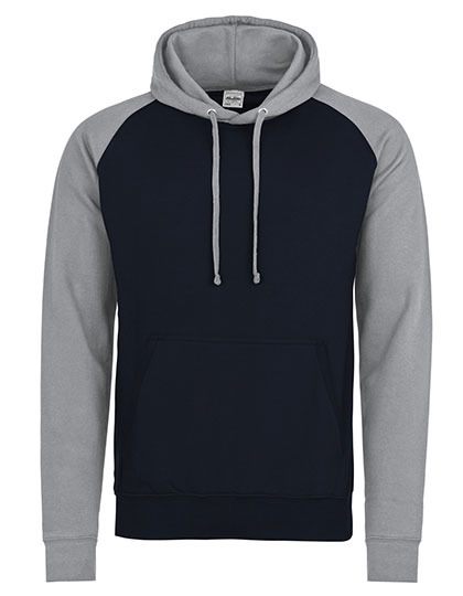 Premium Baseball Hoodie Man - Oxford Navy-Heather Grey