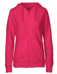 Zip-Hoodie Organic 100% Bio-Baumwolle Woman - Pink