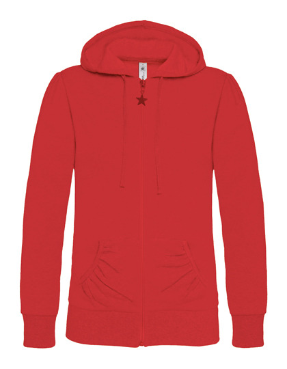 Basic Zip-Hoodie Woman - Red