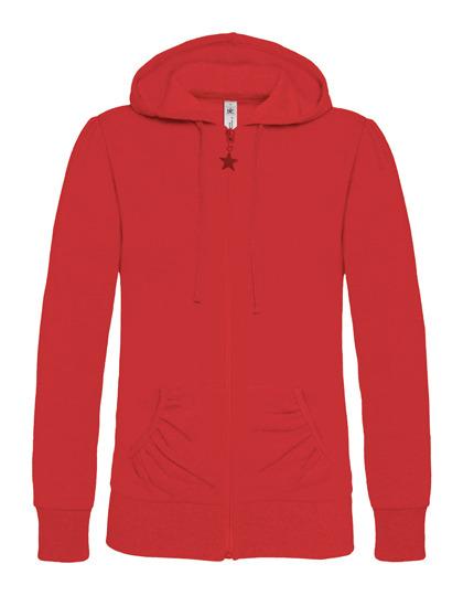 Basic Zip-Hoodie Woman - Red