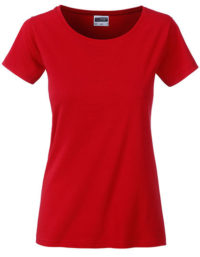 Basic T Organic 100% Bio-Baumwolle Woman - Red