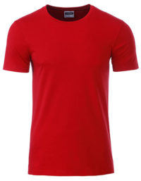 Basic T Organic 100% Bio-Baumwolle Man - Red
