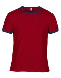 Premium Ringer T-Shirt Man - Indepence Red / Navy