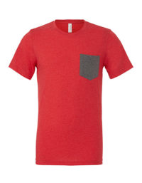 Premium Pocket T-Shirt Man - Heather Red / Deep Heather
