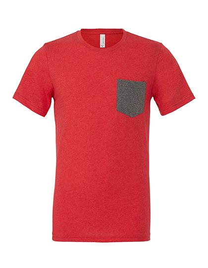 Premium Pocket T-Shirt Man - Heather Red / Deep Heather
