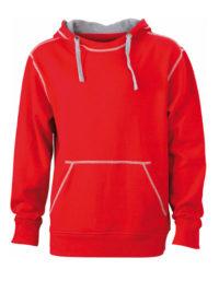 Premium Lifestyle Hoodie Man - Red-Heather Grey