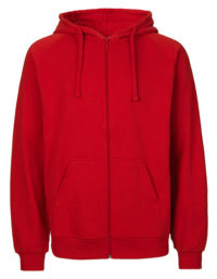 Zip-Hoodie Organic 100% Bio-Baumwolle Man - Red