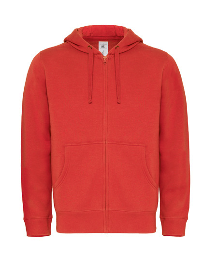 Basic Zip-Hoodie Man - Red