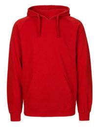 Hoodie Organic 100% Bio-Baumwolle Man - Red