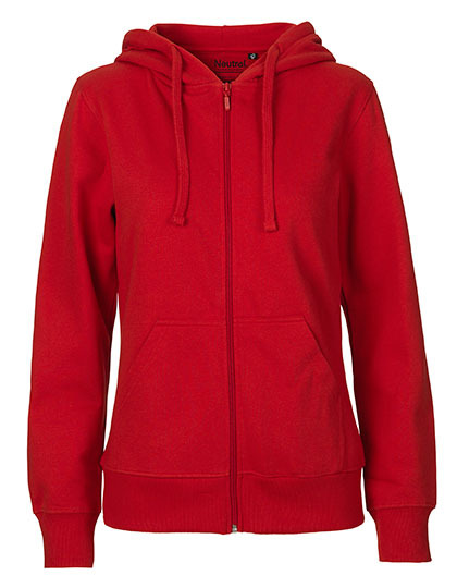 Zip-Hoodie Organic 100% Bio-Baumwolle Woman - Red