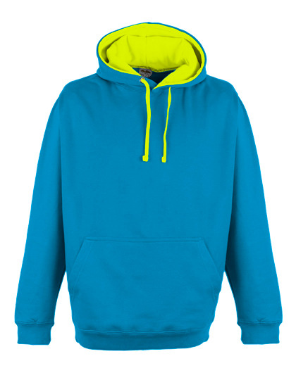 Premium Superbright Hoodie Woman - Sapphire Blue - Electric Yellow