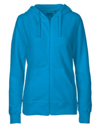 Zip-Hoodie Organic 100% Bio-Baumwolle Woman - Sapphire