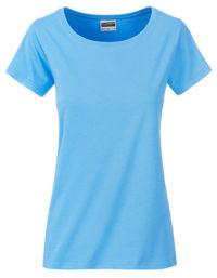 Basic T Organic 100% Bio-Baumwolle Woman - Sky Blue