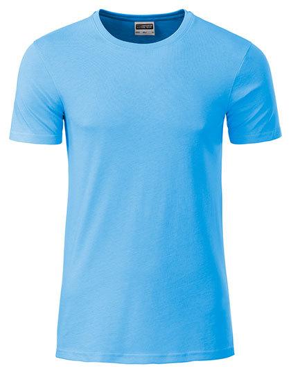 Basic T Organic 100% Bio-Baumwolle Man - Sky Blue