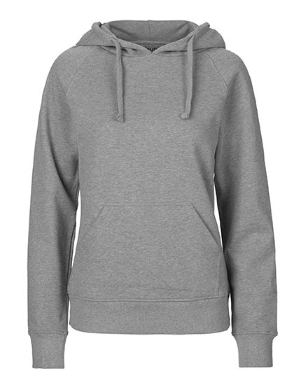 Hoodie Organic 100% Bio-Baumwolle Woman - Sports Grey
