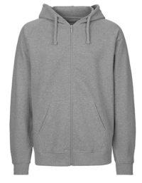 Zip-Hoodie Organic 100% Bio-Baumwolle Man - Sports Grey