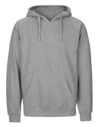Hoodie Organic 100% Bio-Baumwolle Man - Sports Grey
