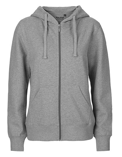 Zip-Hoodie Organic 100% Bio-Baumwolle Woman - Sports Grey