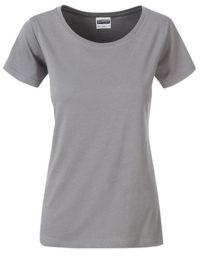Basic T Organic 100% Bio-Baumwolle Woman - Steel Grey