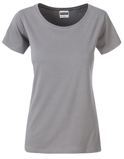 Basic T Organic 100% Bio-Baumwolle Woman - Steel Grey