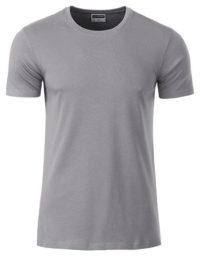 Basic T Organic 100% Bio-Baumwolle Man - Steel Grey