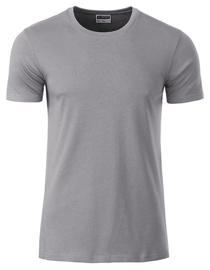 Basic T Organic 100% Bio-Baumwolle Man - Steel Grey