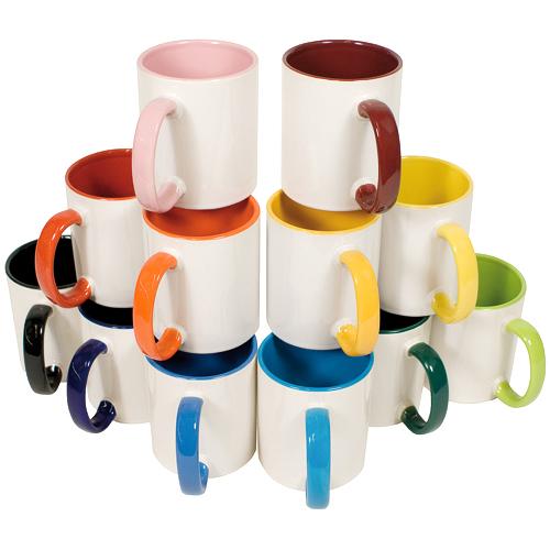 Kaffeetasse, innen farbig