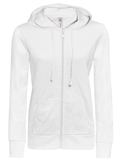 Basic Zip-Hoodie Woman - White