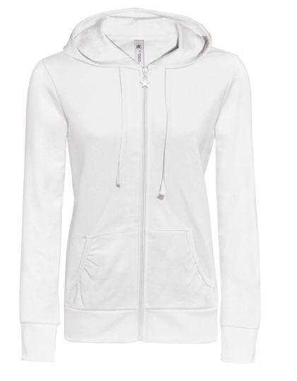 Basic Zip-Hoodie Woman - White