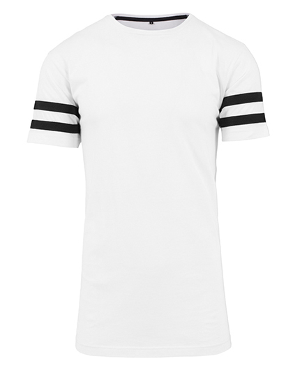 Premium T-Shirt XTRA-Long Stripes Man - White / Black