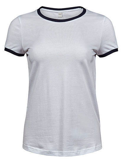 Premium T-Shirt Ringer Woman - White / Black