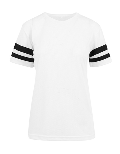 Premium T-Shirt XTRA-Long Stripes - White / Black