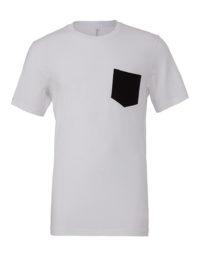 Premium Pocket T-Shirt Man - White / Black