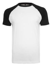 Premium T-Shirt Raglan Man - White / Black