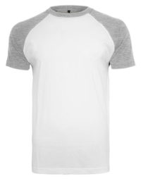 Premium T-Shirt Raglan Man - White / Heather Grey