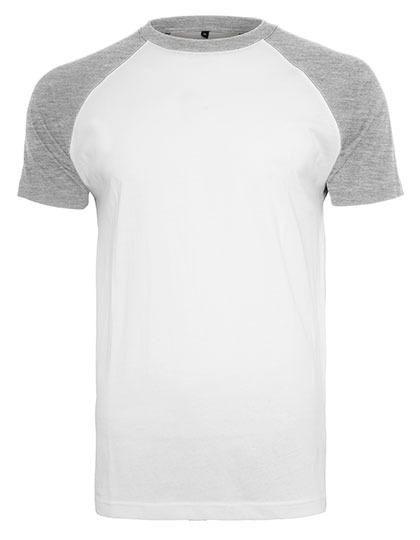Premium T-Shirt Raglan Man - White / Heather Grey
