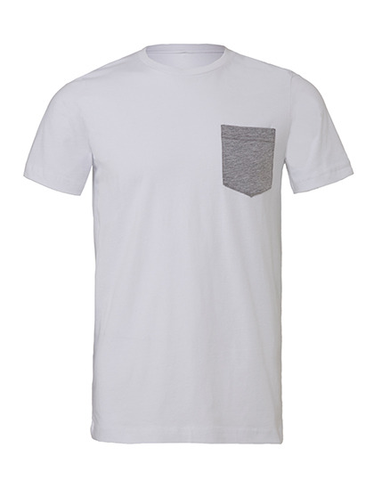 Premium Pocket T-Shirt Man - White / Athletic Heather