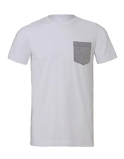 Premium Pocket T-Shirt Man - White / Athletic Heather