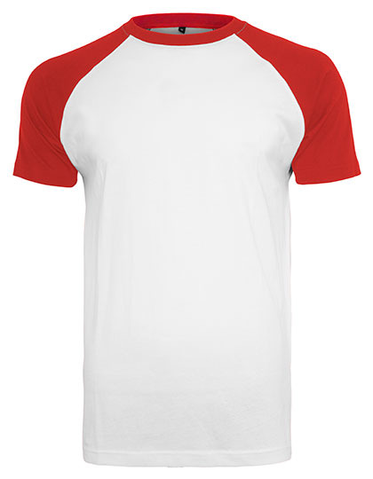 Premium T-Shirt Raglan Man - White / Red