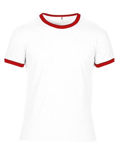 Premium Ringer T-Shirt Man - White / Red